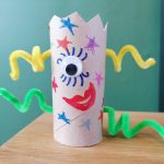 Hoglets craft - make a toilet roll alien