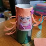 Hoglets craft - Make a toilet roll mermaid puppet