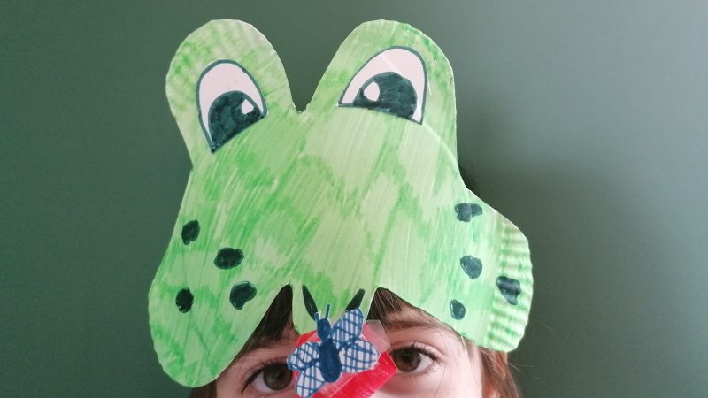 Hoglets craft - Make a frog headdress