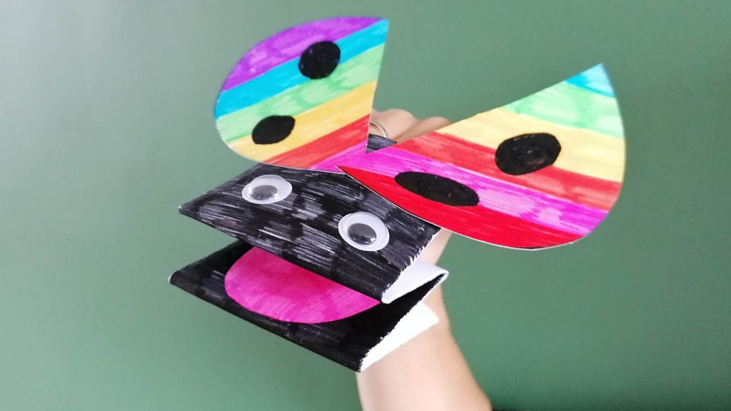 Hoglets craft - make a ladybird puppet