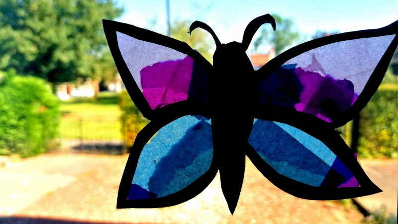 Make A Butterfly Suncatcher