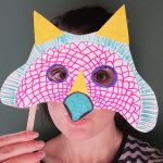 Hoglets craft: make a dinosaur mask