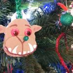 Hoglets craft - make an awesome Gruffalo Christmas decoration