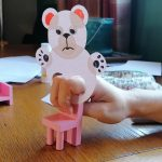 Hoglets Craft: Make a bear finger puppet
